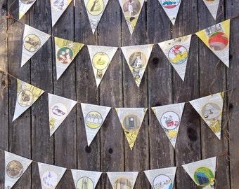 4 children's book banners/book theme decor
