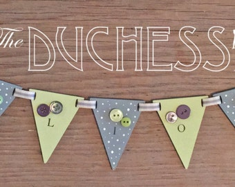 Personalised Wooden Bunting - 6+ letters
