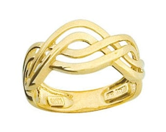 14k irish love knot ring. irish ring, celtic ring, love knot ring.