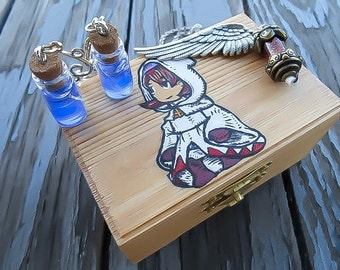 Final Fantasy Jewelry - Final Fantasy Gift Box - White Mage Jewelry Box - Final Fantasy Necklace - Final Fantasy Earrings - Healer Box