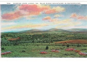Luray Virginia Vintage Postcard (unused)