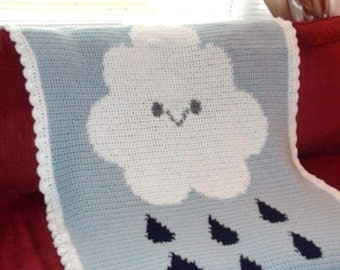 Baby Rain Cloud Blanket