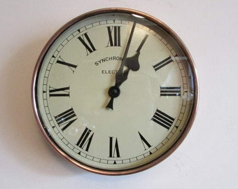 1920s Synchronome Copper Vintage Electric Wall Clock
