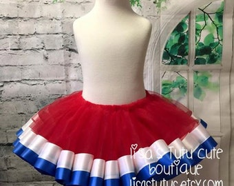 Red white and blue tutu, patriotic tutu, coming home tutu, 4th of july tutu, independence day tutu, american tutu, smash cake tutu,