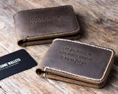 Mens wallet, leather wallet, groomsmen gift, gift for groom, boyfriend gift, husband gift, father gift, mens gift, gifts for him #002R