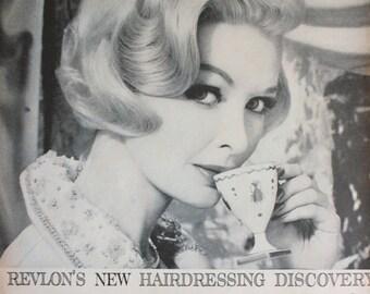 1961 ad Revlon Persuade Color Shampoo-Pretty Blonde Woman photo-Vintage 1960's Print Ad ETK206