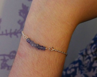 Tanzanite Stackable Bracelet
