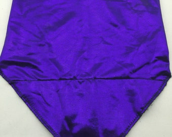 Shiny Purple Spandex Bandana w/ Hidden Stash Pocket