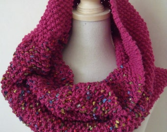 Pink cowl neck with confetti (100 cm/50 cm)
