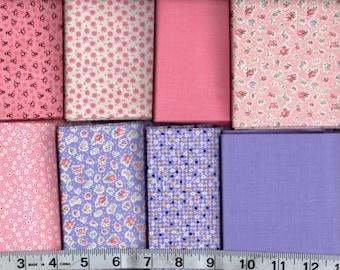 8-Piece Fat Quarter Bundle Treasures from the Attic 100% Cotton Gallery Fabrics 51-1