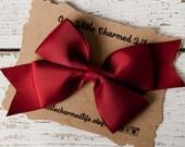 Maroon Hair Bow, Maroon Hairbow, Maroon Hair Clip, Red Hair Bow, Dark Red Hair Bow, 5 Inch Hair Bow, Toddler Hair Bow, Girls Hair Bow