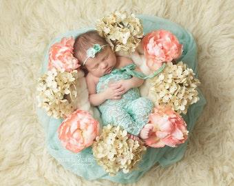 SAILOR, Newborn Romper, Girl Photo Props, Romper Set, Newborn Pants, Flower Headband, Newborn Photo Romper, Photography Prop, Newborn Prop