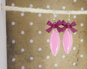 Earrings • Rockabella • bows pink