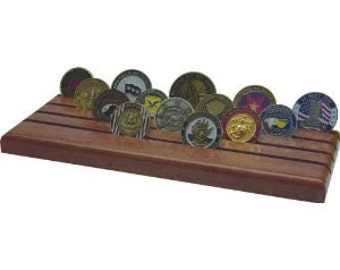 Challenge Coin Holder -Mahogany Red -28 coins