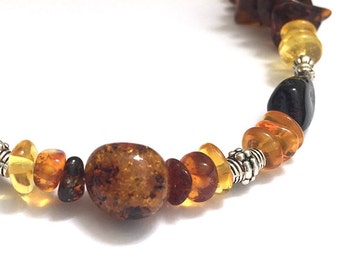 "Amber teething necklace ""precious"""