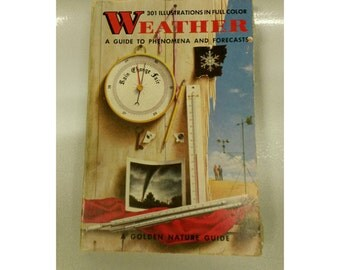 1957 golden nature guide book- weather