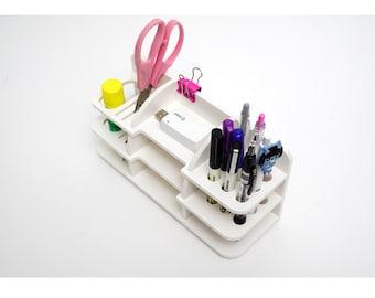 White PVC Foam Sheet Stationary item Case Holder Desktop desk Organiser DIY
