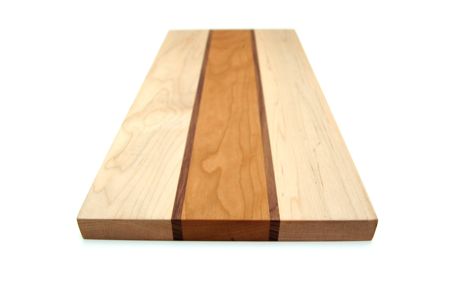 Cherry maple walnut cutting board