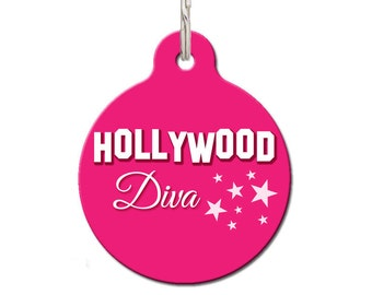 Hollywood Diva Pet ID Tag | FREE Personalization