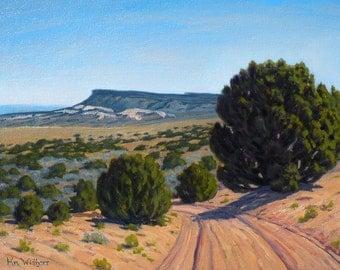 Utah 'Escalante' - original landscape painting - realistic - oil - impressionist - trees - road - framed - western art - free shipping