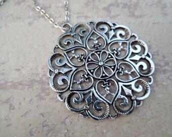 Medallion Necklace /Pendant Necklace