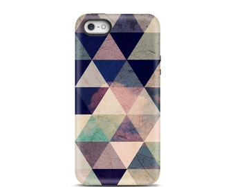 iPhone 5 case, iPhone 5s case, iPhone 6 case, iPhone 7 case, iPhone 7 plus case, tough iphone case, iPhone 7 case Tough - Geometric