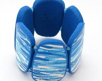 blue tile bracelet