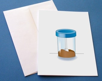 Specimen cup greeting card