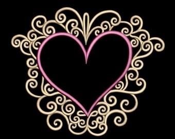GG1618 Swirly Heart Frame