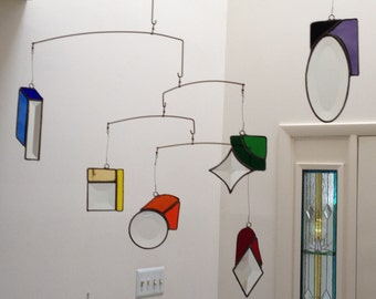 Stained Glass Mobile - Rainbow Design