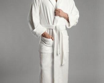 Premium Plush Luxe 100% Turkish Cotton Robe Personalized Custom Monogram