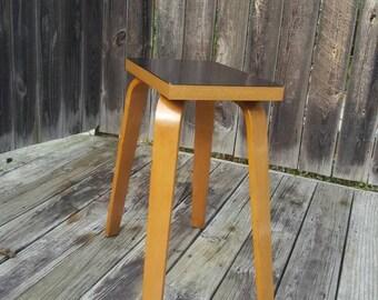 Refurbished 1940's Thonet Black Bakelite Bentwood Table;  Small Thonet Bentwood Table; Spider Leg Table