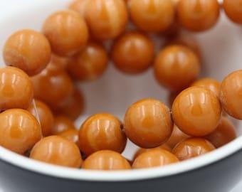 Ethnic Round Brown Beads