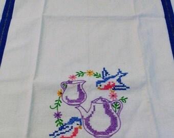 Vintage Bluebird Towel Kitchen Towel Tea Towel