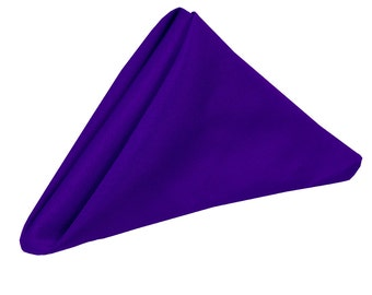 Purple Napkin for Weddings Pack of 10 | Wholesale Polyester Cloth Napkins