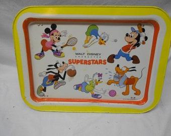 Walt Disney Superstars Dinner Tray, Disney TV Tray, Minnie Mouse, Mickey Mouse, Goofy, Donald Duck, Disney Collectible, Vintage Disney