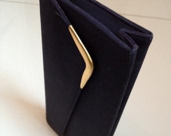 Sale 3 Days Only 1950's PEGI PARIS Popular Clutch - Midnight Blue Purse - Vintage Handbag