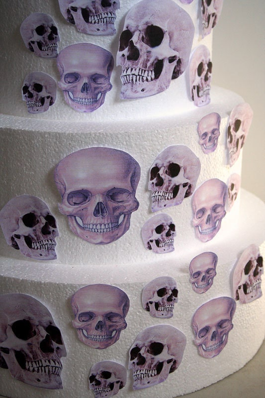 Edible Cake Decorations Skull : Edible Skulls Cake Decorations Realistic Edible Skulls Set