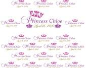 Princess Party Crown Banner,  Tiara Party, Vinyl Backdrop for Girls Photography, Birthday Photo Princess theme party idea