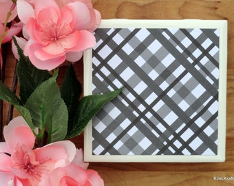 Tile Coasters - Ceramic Coasters - Ceramic Tile Coasters - Coaster Set - Table Coasters - Black and White Coasters - Coaster - Tile Coaster