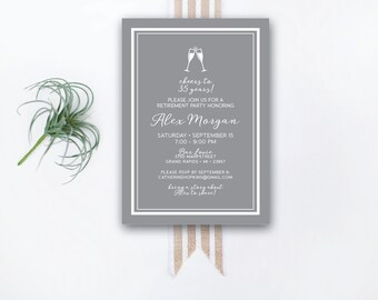 INSTANT DOWNLOAD retirement party invitation / retirement party invite / classy retirement party / elegant retirement party invite