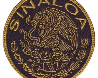 Sinaloa Mexico Eagle Shield  Embroidered Patch