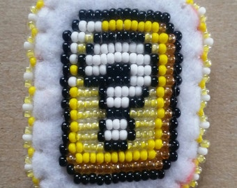 Super Mario Question Mark Block Beaded Pin