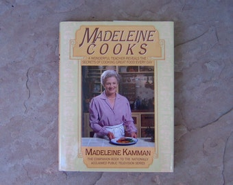 Madeleine Cooks Cookbook, 1986 Madeleine Kamman Cookbook, Vintage Cookbook