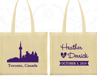 Canada Tote Bags, Canada Wedding, Personalized Cotton Bags, Destination Wedding Bags, Wedding Bags, Toronto Tote Bags (165)