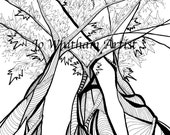 Vines Coloring Page (PDF & JPEG download)
