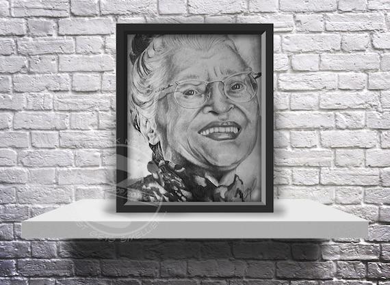 Rosa Parks Drawing - 10X8 Print