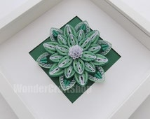 blooming flower, green flower, flower home decor, paper flower, flower wall art, flower decoration, mothers day gift, unique gift for wife