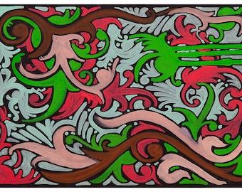 Original Art Print, Modern Art Print, Psychedelic Artwork, Sacred Geometry Painting