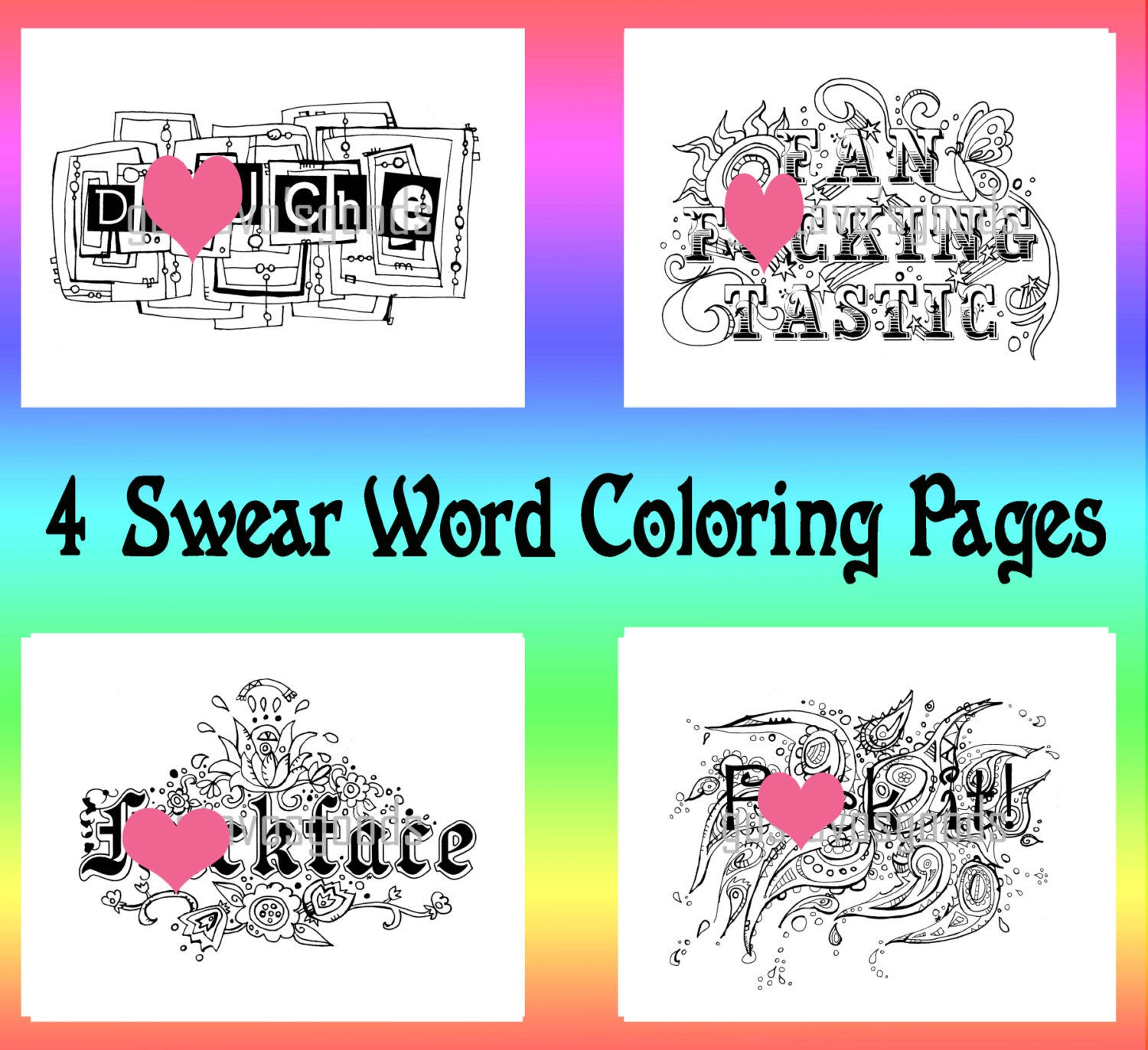 Swearing colouring in book nz -  Swear Coloring Book Cuss Zoom